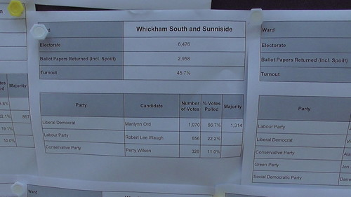 Whickham South and Sunniside result May 18