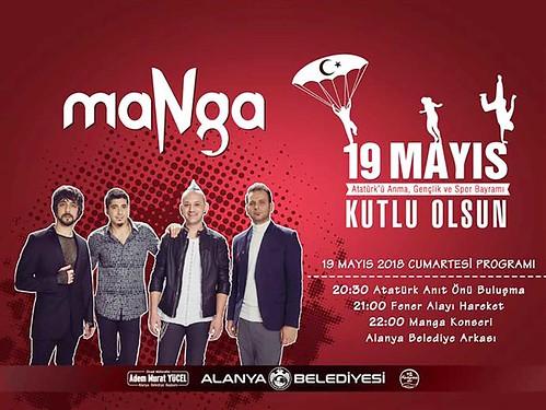 Alanya'da 19 Mayıs Manga ile kutlanacak