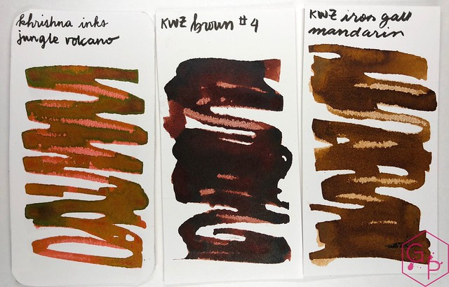 Krishna Inks Jungle Volcano Fountain Pen Ink Review @PenChalet 4