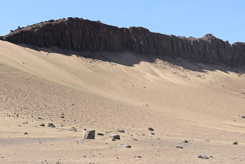 Sandy slope of a huge mountain