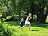 When the landscape gets greener than greener, and the kids are playing in it, that's when the nature smiles.