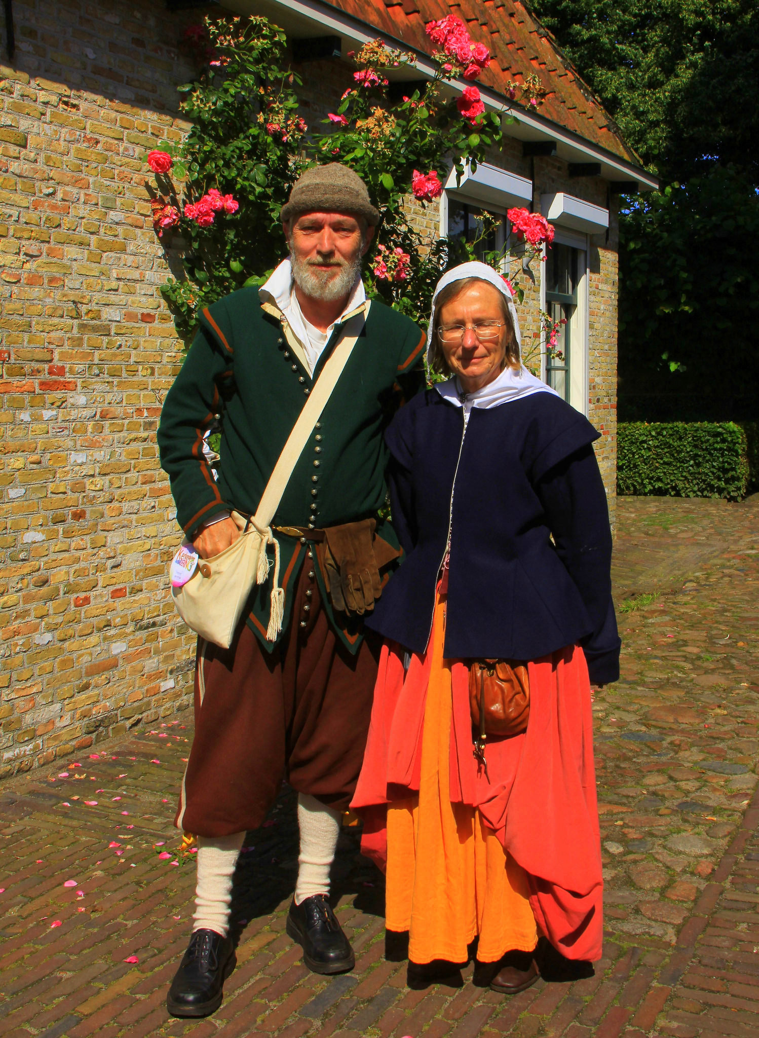 Village docents of fort bourtange wear period costumes