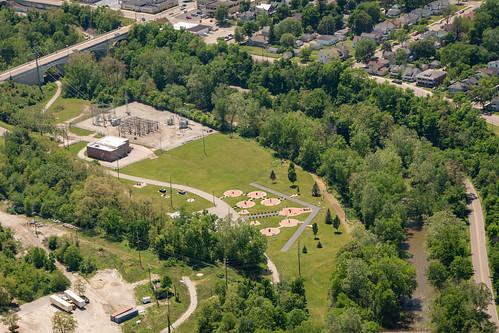 Aerial View of Veteran's Memorial Park