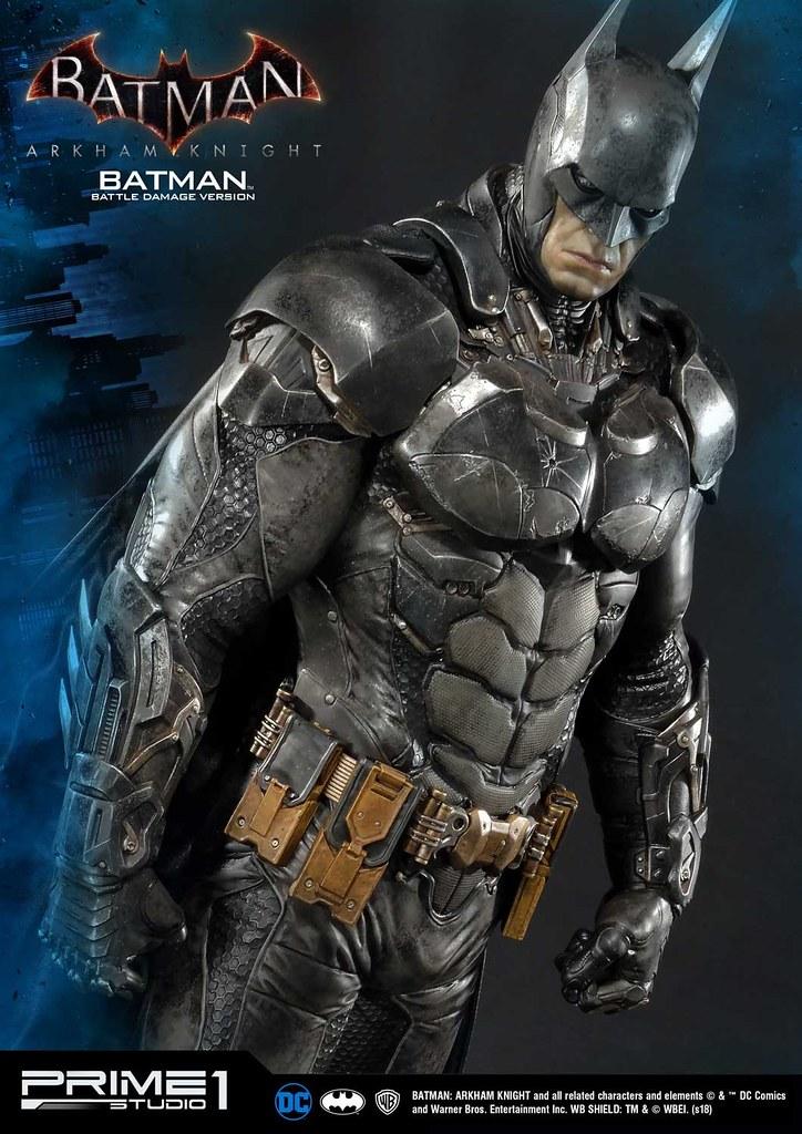Prime 1 Studio《蝙蝠俠:阿卡漢騎士》蝙蝠俠 戰損版 バットマン バトルダメージ版 MMDC-01BD 1/3 比例全身雕像作品