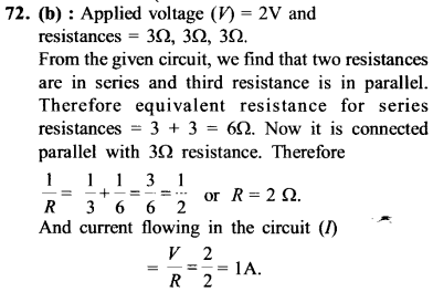 NEET AIPMT Physics Chapter Wise Solutions - Current Electricity explanation 72