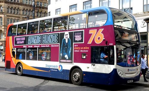 MX12 LWO 'Stagecoach Manchester' No. 10048, '76'. Dennis Trident 2 / 'ADL' Enviro 400 on 'Dennis Basford's railsroadsrunways.blogspot.co.uk'