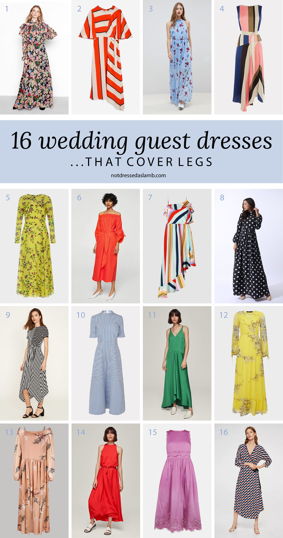 What to Wear to a Summer Wedding for All Shapes & Sizes: 16 Wedding Guest Dresses That Cover Legs - Not Dressed As Lamb