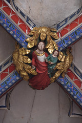 Ottery St. Mary, Devon, St. Mary's, lady chapel, vault, detail