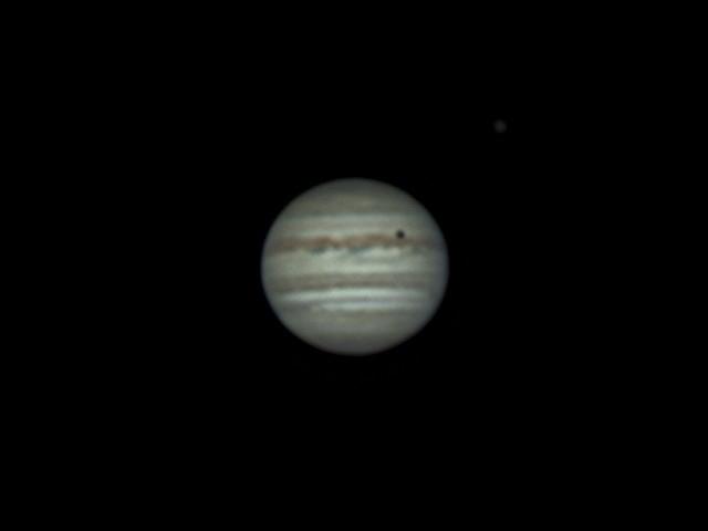 木星とイオの影 (2018/4/27 22:45)