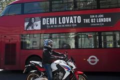 Demi Lovato on a London bus