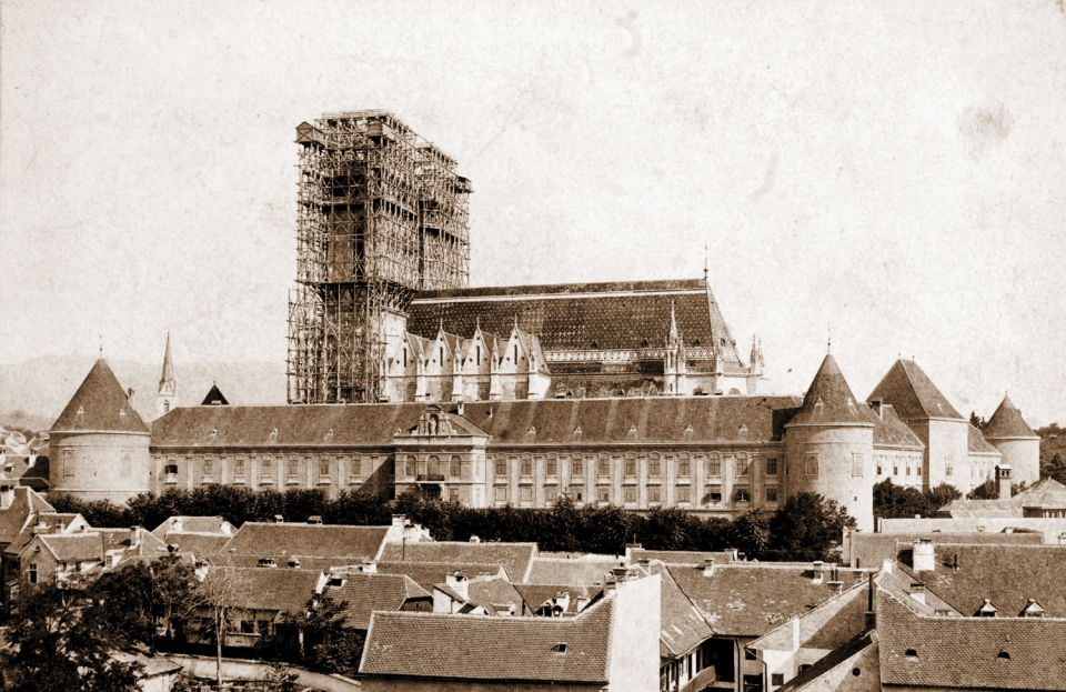 Reconstruction of the Zagreb Cathedral in 1894.