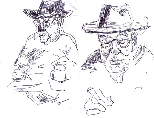 Sketchbook #113: Fellow Sketcher at a Cafe
