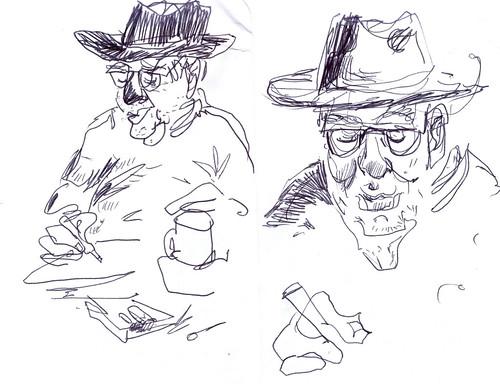 Sketchbook #113: Fellow Sketcher at a Cafe