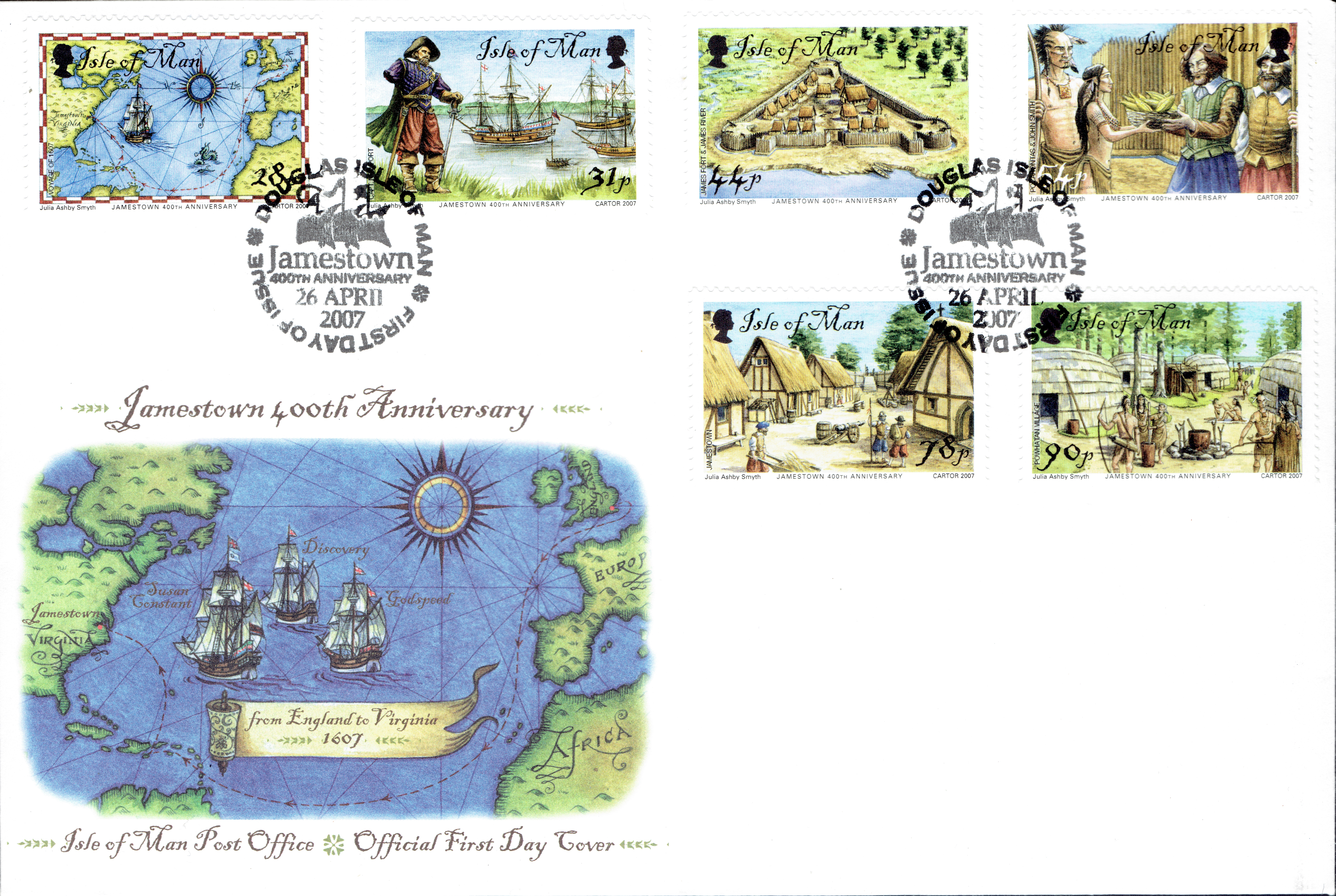 Isle of Man - Scott #1202-1207 (2007) first day cover