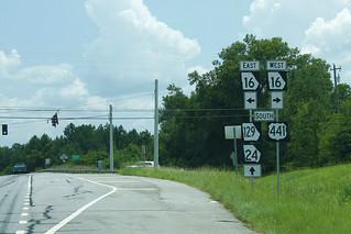 US441 GA24 US129 South - GA16 East West Signs - GA129 Error