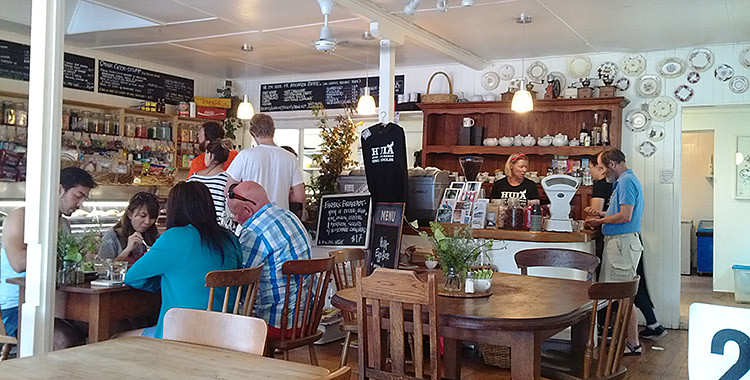 Cafe in Huia, Auckland, Neuseeland