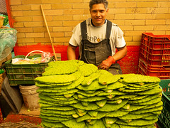Nopales at the Merced Mercado