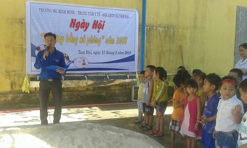 Ngày hội rửa tay xà phòng năm 2018 của xã Tam Đại