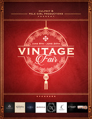 The Vintage Fair presented by Culprit & Pale Girl Productions: June 8th to 24th, 2018