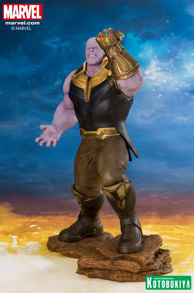 「等我大功告成...半數的人類還會存在。」壽屋 ARTFX+ 系列《復仇者聯盟3:無限之戰》薩諾斯 Thanos