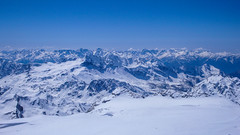 Widok z Piz Palu 3900m na wschód