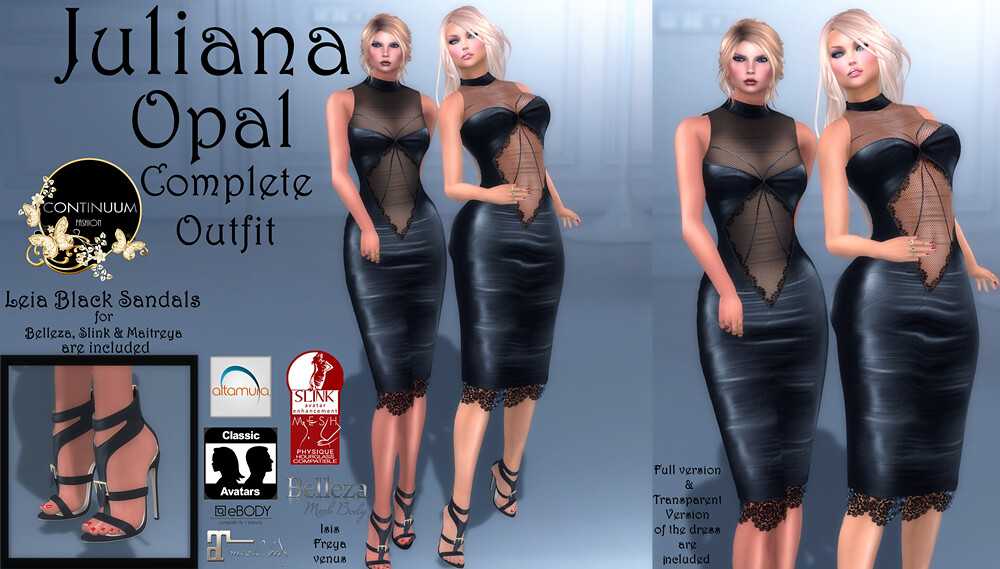 Continuum Juliana Opal complete outfit