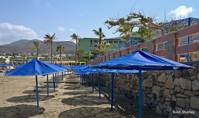 the beach Hersonissos, Crete
