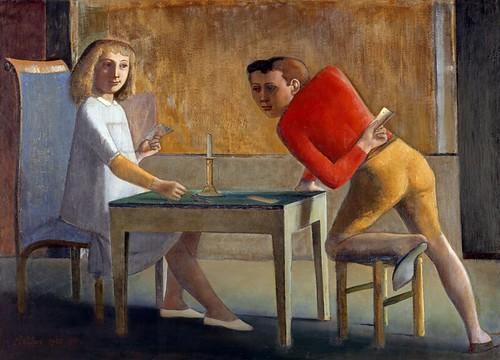 Balthus - La partie de cartes, 1948- 1950, Thyssen