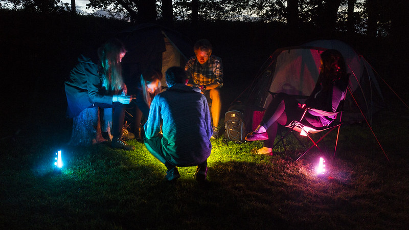 Camping with Adaptalux Glow