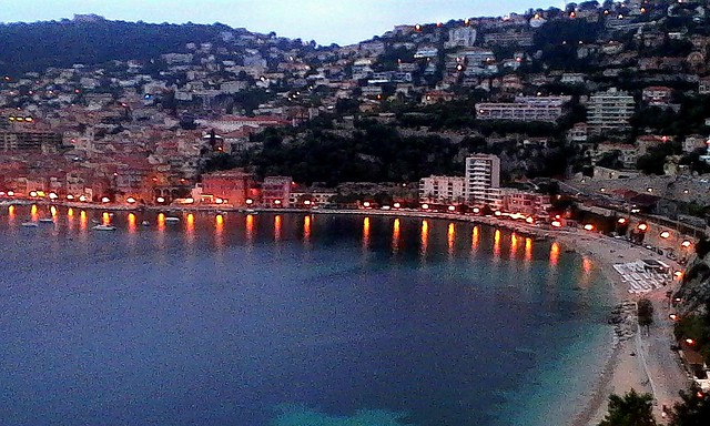 Villefranche-sur-mer in the evening