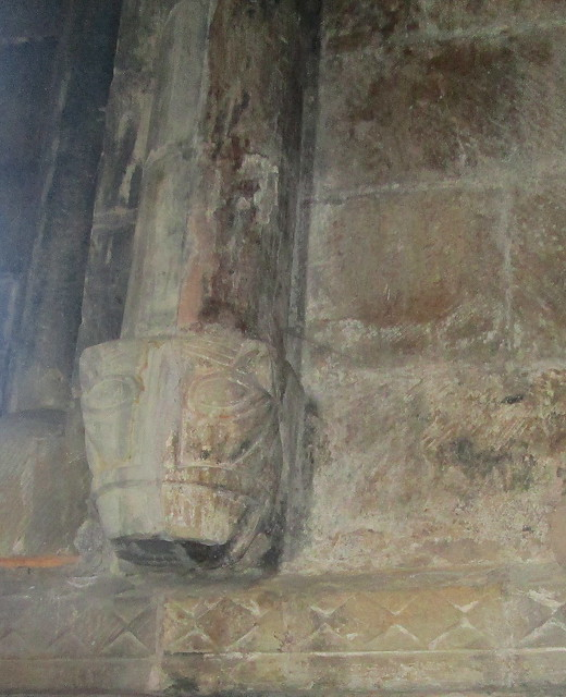 Second Carved Head, St Athernase Church, Leuchars, Fife