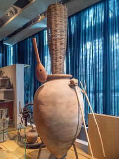 Weinherstellung in Georgien vor ca. 5.000 Jahren, Ausstellung Ruralitée im Mucem