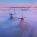 Rising Windmills by albert dros