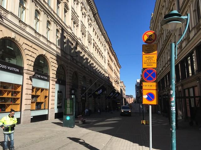 Mostly pedestrianized street