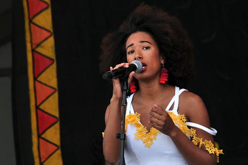 Mykia Jovan on the Congo Square stage.
