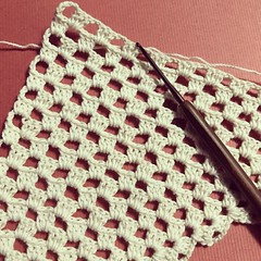 Crochet Shawlette in Progress