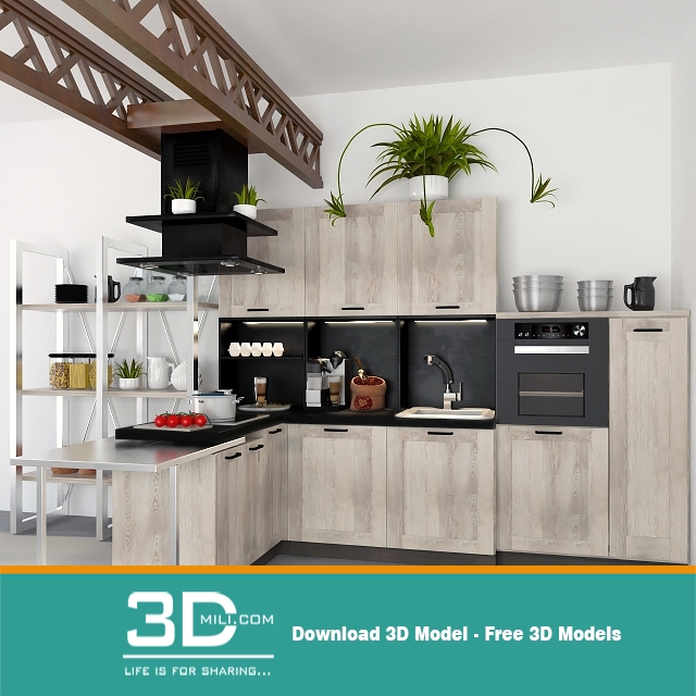 20. Kitchen 3D Models And Textures 10 Free Download