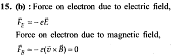NEET AIPMT Physics Chapter Wise Solutions - Moving Charges and Magnetism explanation 15