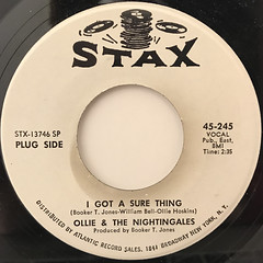 OLLIE & THE NIGHTINGALES:I GOT A SURE THING(LABEL SIDE-A)