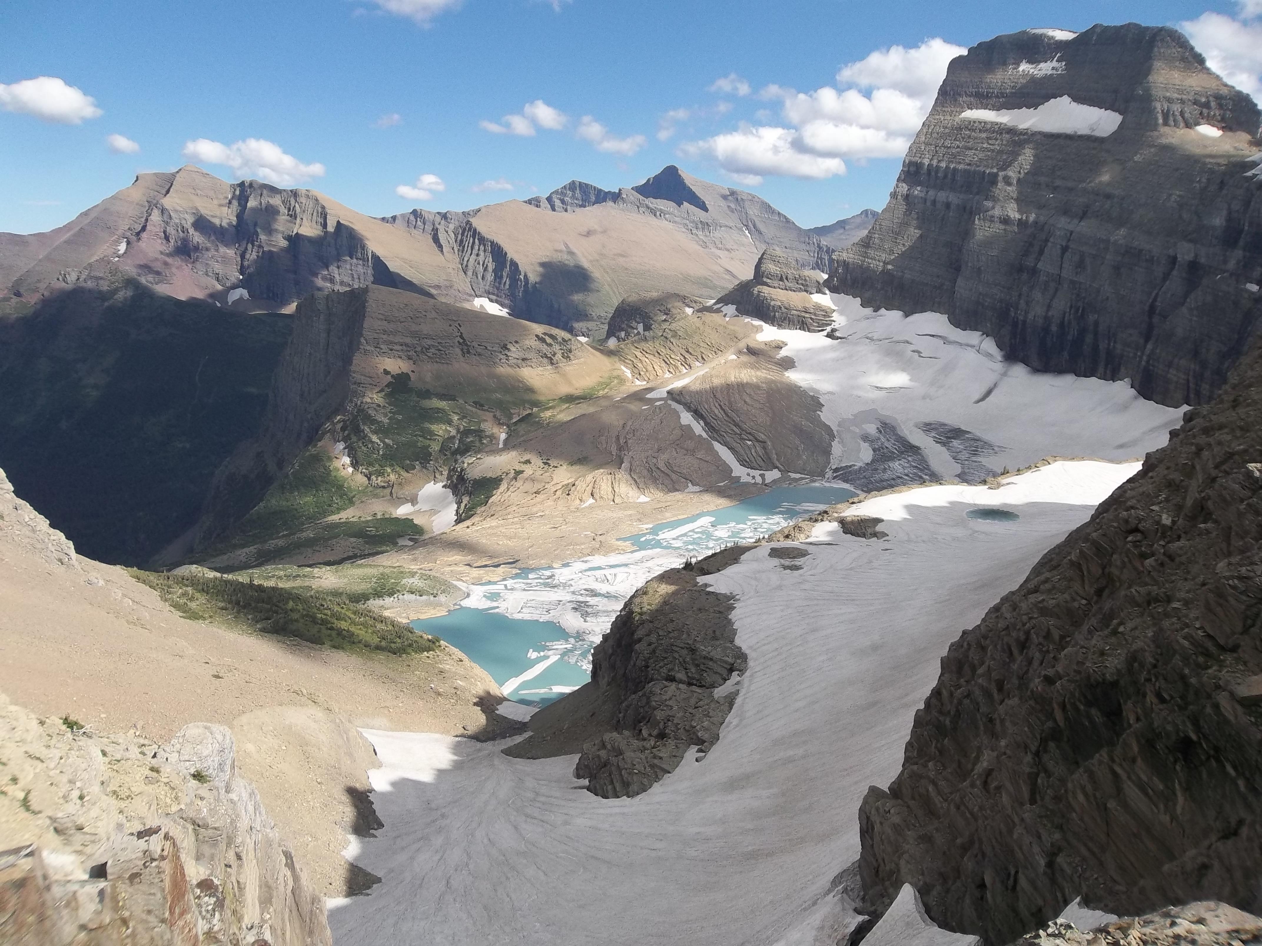 Grinnell Glacier in Glacier National Park, Montana. Photo taken on August 23, 2012.