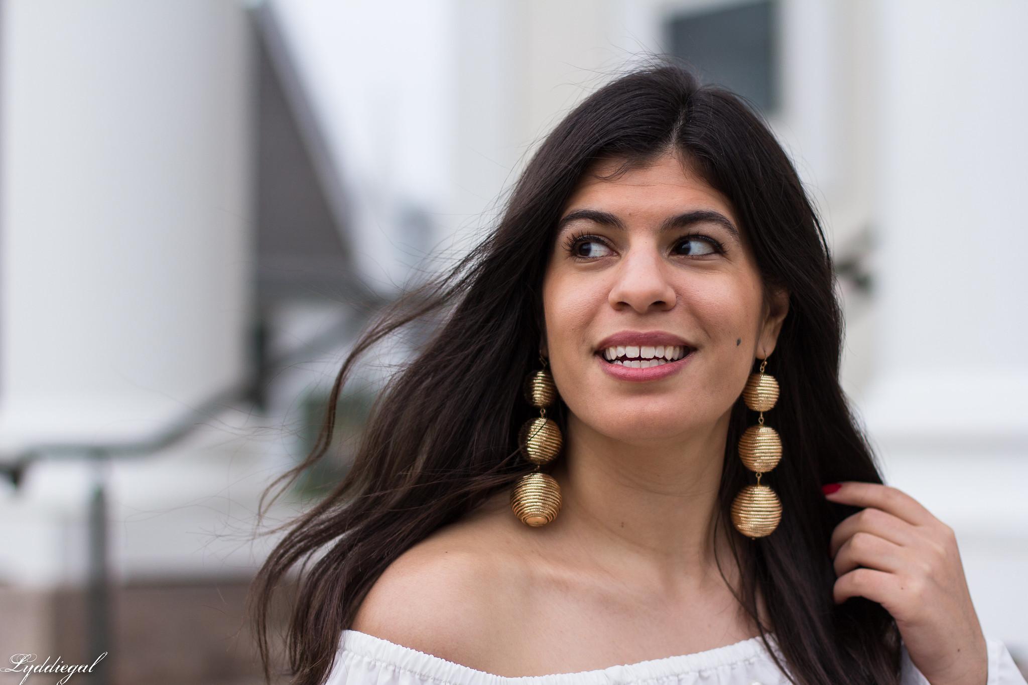 off the shoulder pearl embellished blouse, gold bon bon earrings13.jpg