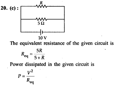 NEET AIPMT Physics Chapter Wise Solutions - Current Electricity explanation 20