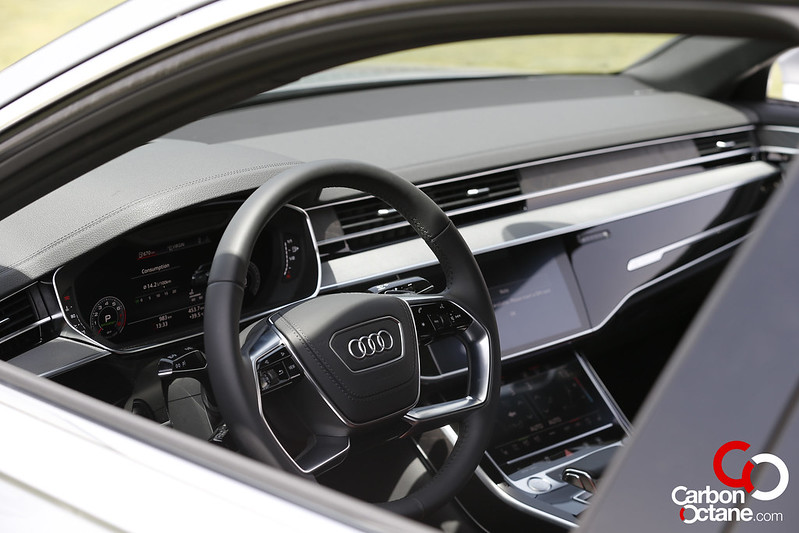 First Drive of the All New 2019 Audi A8 carbonoctane 21