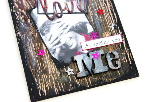 Meihsia Liu Simply Paper Crafts Mixed Media Tag Abba Song Inspiration Simon Says Stamp Tim Holtz 5