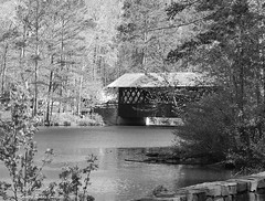 A covered bridge in Stone Mountain Park, Georgia.