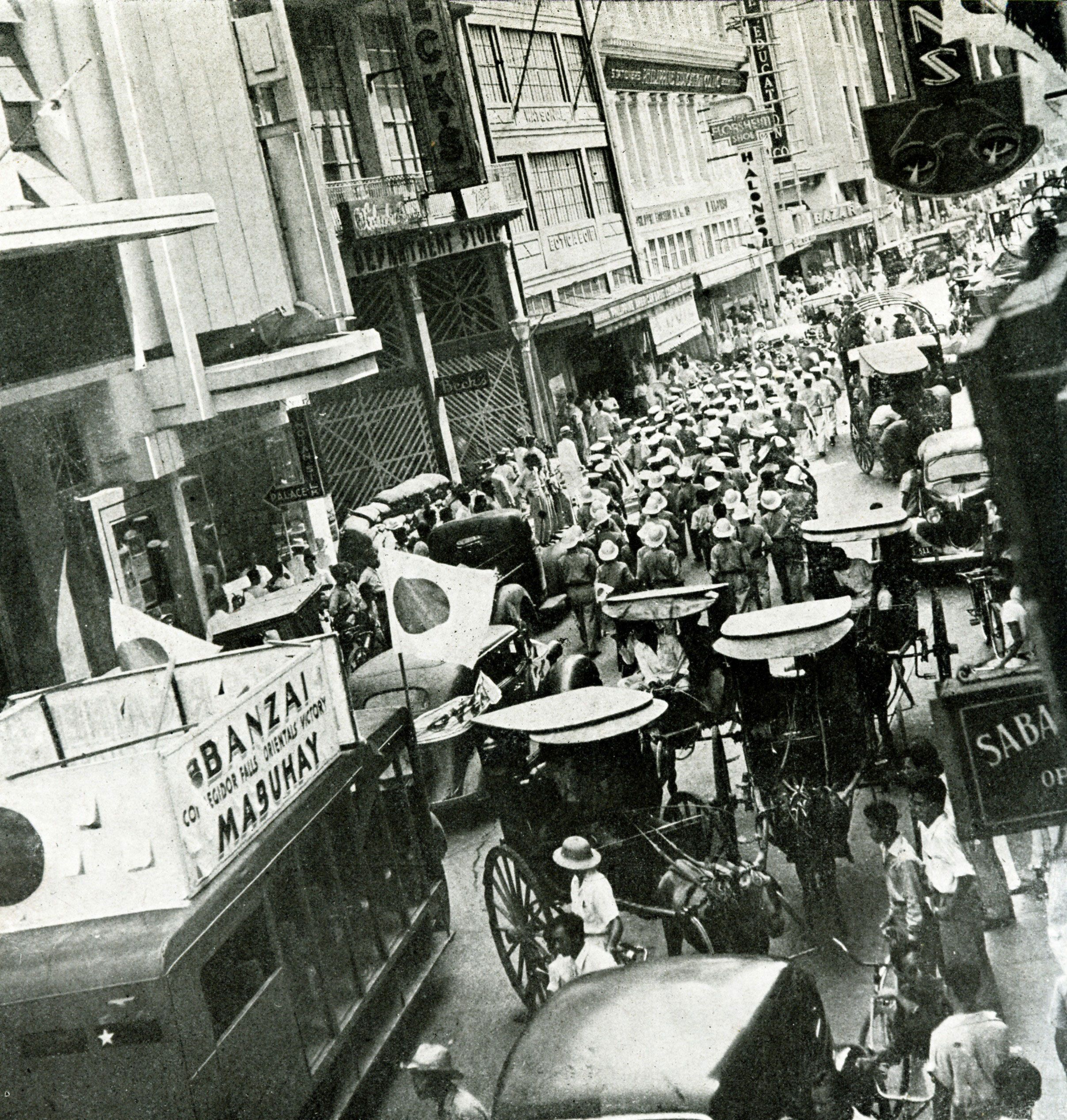 Japanese in Manila on May 9, 1942.