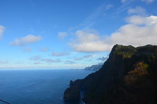 Blick auf die Ostspitze Madeiras von Santana aus