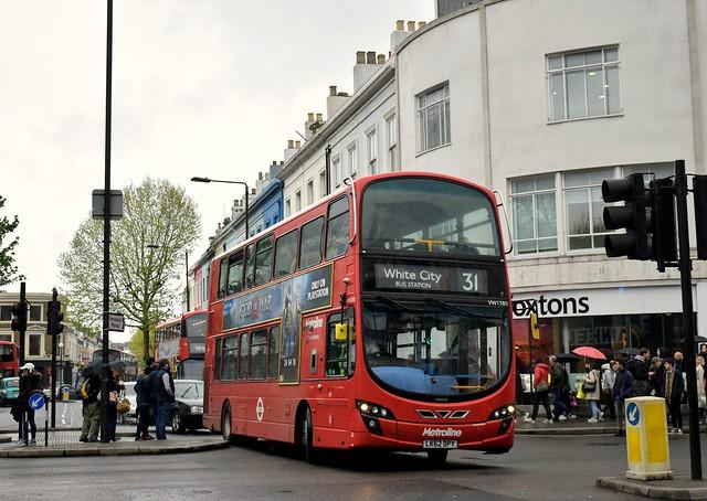*NEW OPERATOR* Metroline: VW1380 | LK62DPY || 31: Camden Town - White City Bus Station
