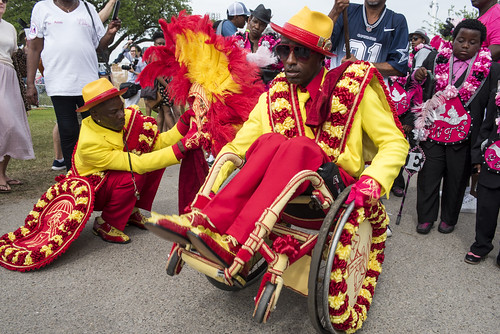 Rollin' Joe and Pigeon Town Steppers at Jazz Fest day 6 on May 5, 2018. Photo by Ryan Hodgson-Rigsbee RHRphoto.com