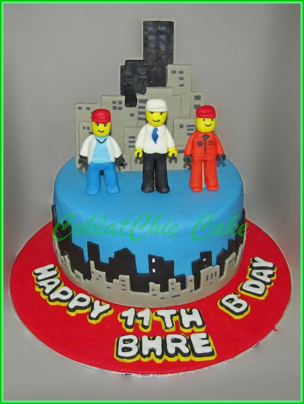 Cake Lego City BHRE 15 cm